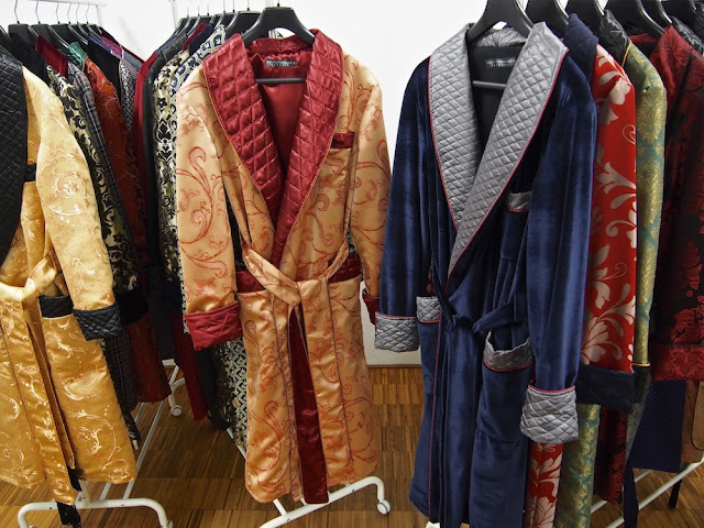 Mens quilted silk dressing gown long warm luxury paisley robe