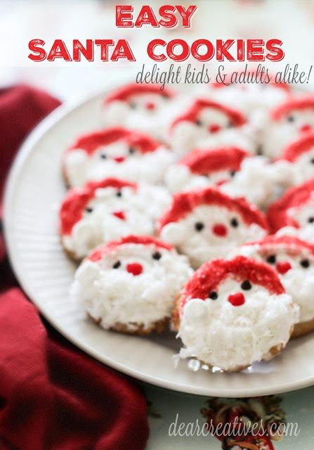 Holiday cookie recipe - easy Santa cookies