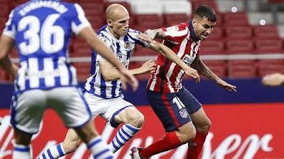 ملخص واهداف مباراة اتلتيكو مدريد وريال سوسيداد (2-1) الدوري الاسباني