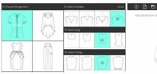 Aplikasi Fashion Design Flat Sketch