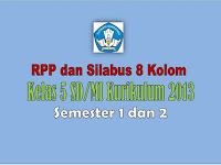RPP dan Silabus  KK 2013 Kelas 5 SD Semester 1 dan 2 Revisi 2018