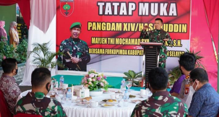 Pangdam Hasanuddin, Silaturahmi Dengan Forkopimda Kabupaten Mamasa