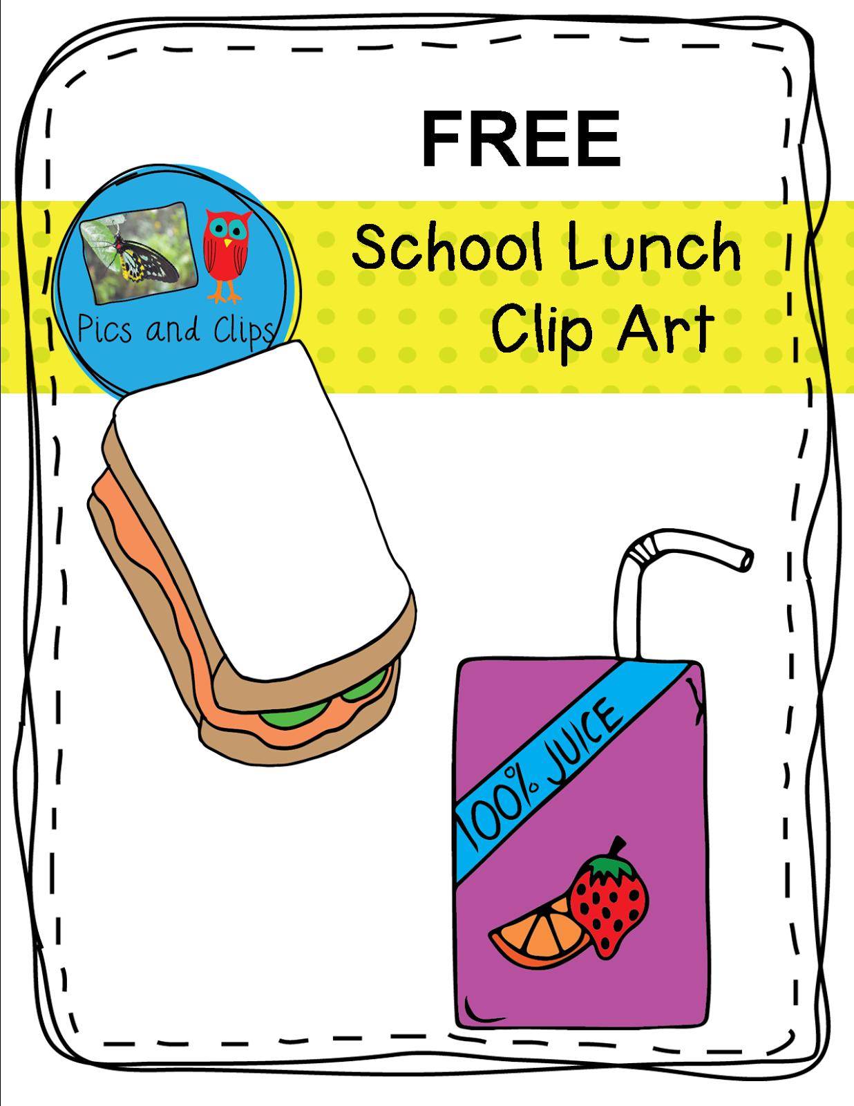 Literacy Amp Math Ideas Free School Lunch Clip Art