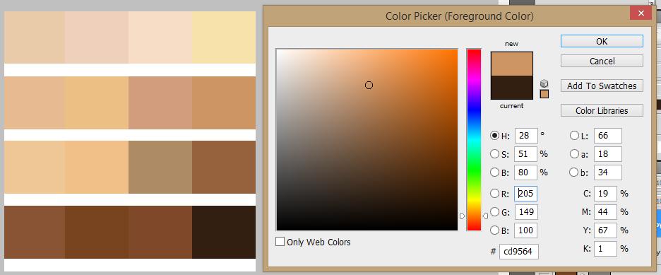 25+ Pallate Skin Buat Memberi Warna Area Kulit Vector [ Lengkap ]