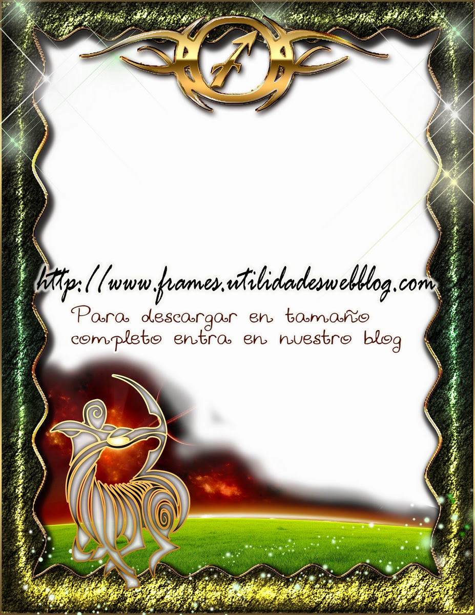 Marco para fotos del signo del zodiaco - Sagitario