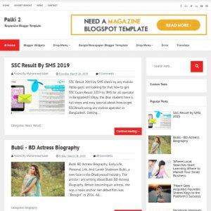 Palki-2 blogger template