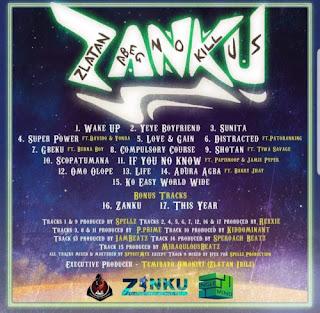 DOWNLOAD ALBUM : Zlatan – Zanku Album