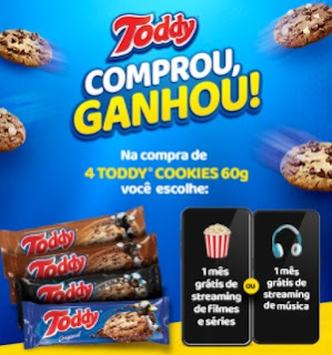 Cadastrar Promoção Toddy Cookies 2020 Comprou Ganhou 1 Mês Streaming de Música ou Filmes