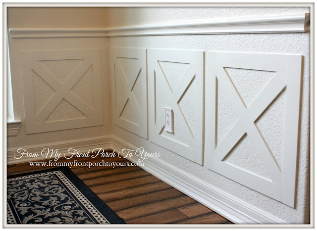 Crossbuck DIY Wainscoting-From My Front Porch To Yours