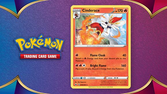 Carta Cinderace Pokémon Errata