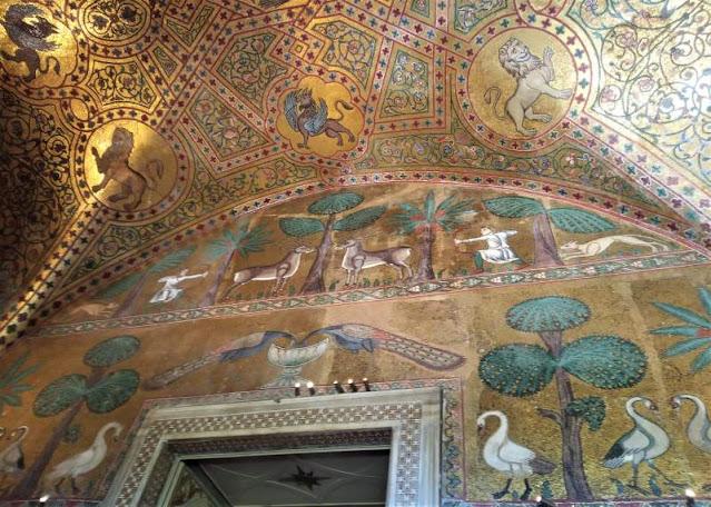 Mosaici caccia Sala di Re Ruggero II