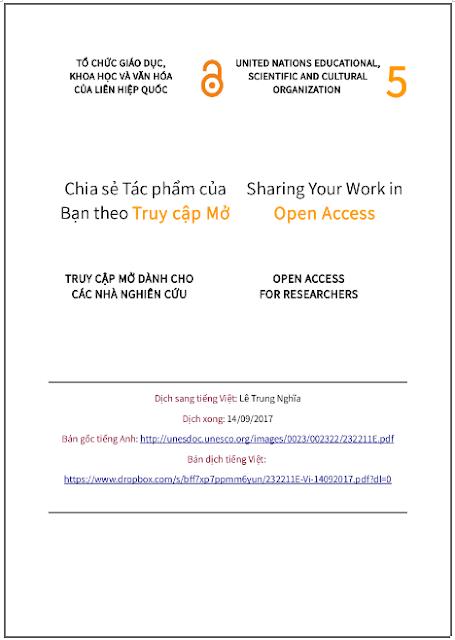 'Chia sẻ tác phẩm của bạn theo truy cập mở' - bản dịch sang tiếng Việt