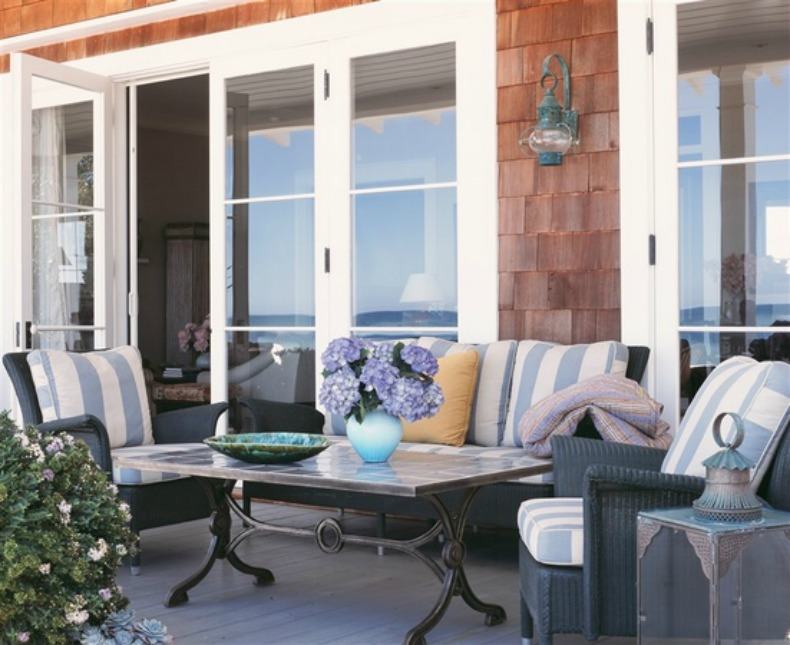 Nantucket coastal outdoor room