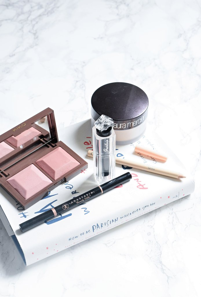 october beauty favourites, kiko cocoa palette, laura mercier powder, guerlain beige lingerie