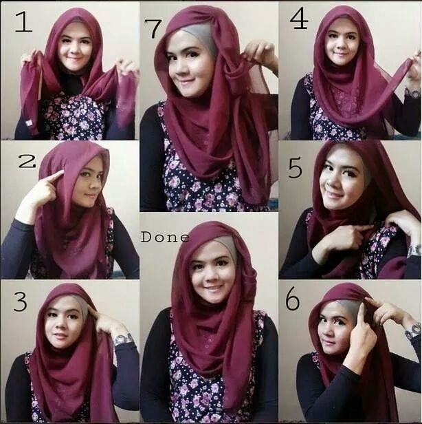 Tutorial Memakai Jilbab Segi Empat Kreasi Simple
