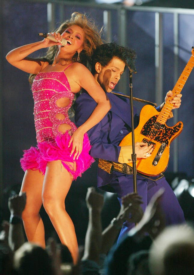 Beyoncé and Prince (2004).