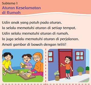 Kelas 2 Tema 8 Subtema 1 Aturan Keselamatan di Rumah www.simplenews.me