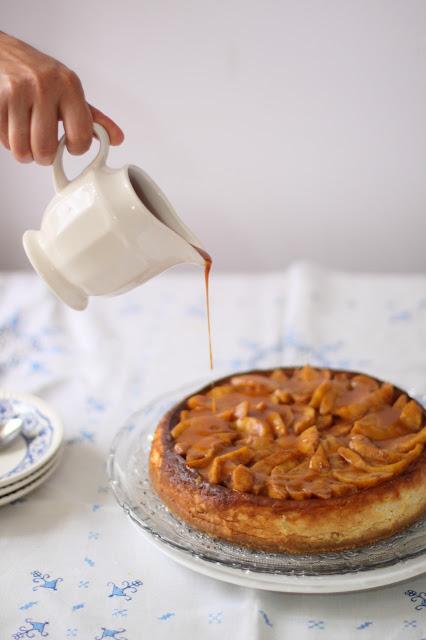 peach-vanilla-cheesecake, cheesecake-de-melocoton-y-vainilla