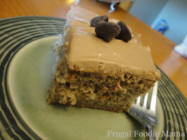 Frugal Foodie Mama Banana Chocolate Chip Cake With