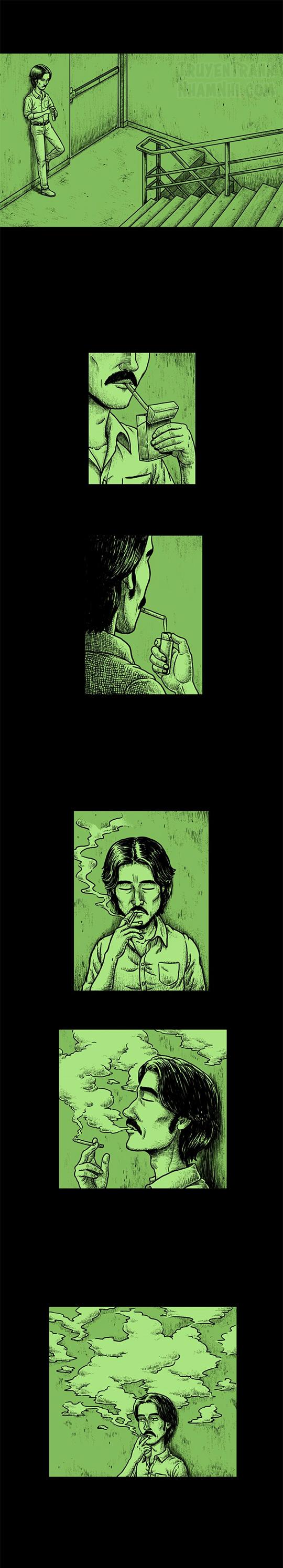 Hắc Ám Truyện #77: Hút thuốc