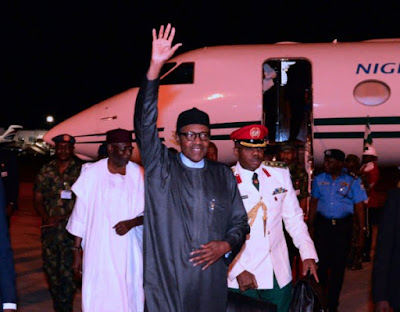 PHOTOS: Buhari Arrives Nigeria After 2 Days Controversy