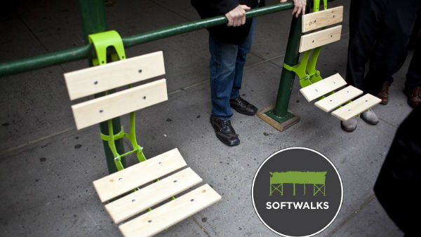 New Inventions, Small space ideas, Space saving Furniture Designs, Softwalks: SideWalk Chair Without Legs - Space Saving Design