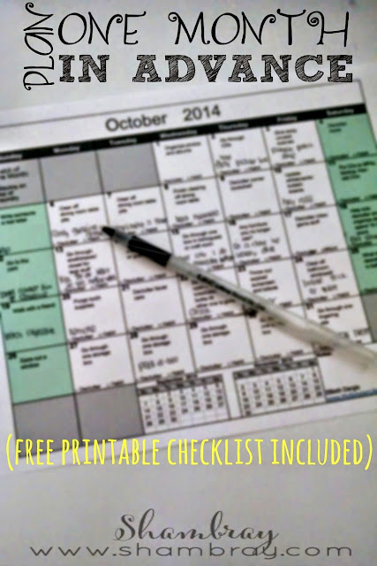 Get a free printable to begin monthly planning.