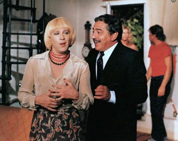 Enzo Cerusico femulating in the 1979 Italian film Scusi, Lei È Normale?