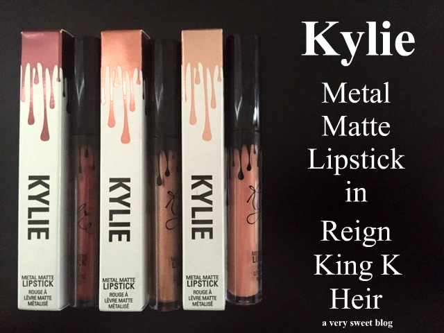 Kylie Metal Matte Lipstick in Reign, King K And Heir Review