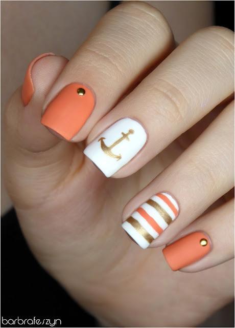 paznokcie z kotwicą