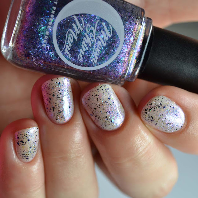 blue to purple shimmer nail polish topper
