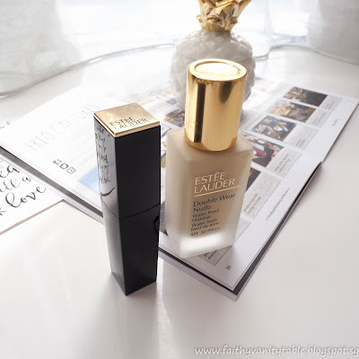 Estee Lauder Double Wear Nude Water Fresh Makeup and Pure Color Envy Lip Volumizer Review