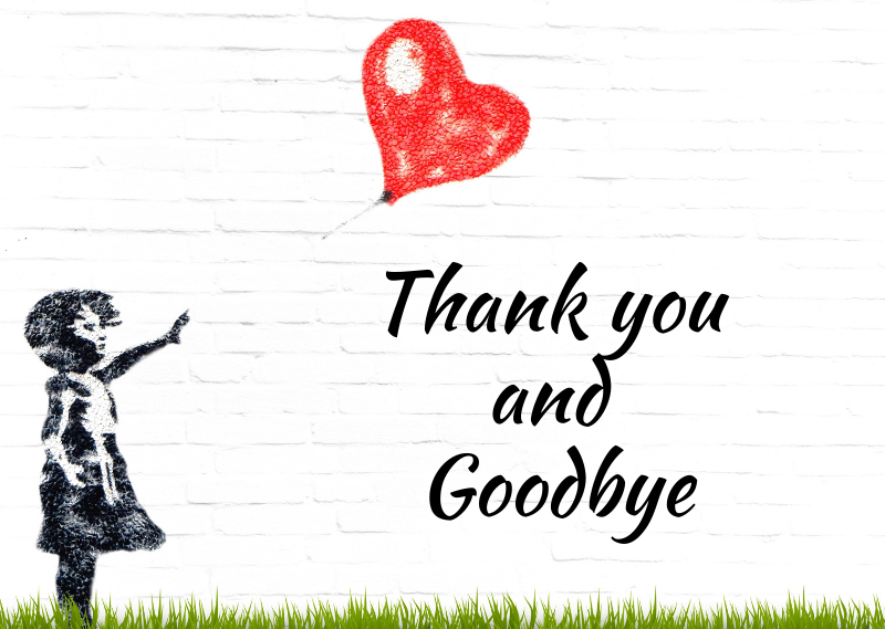 Thank You And Goodbye To My Lovely Readers