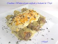 Canelones Wonton de pato confitado y bechamel de trufa