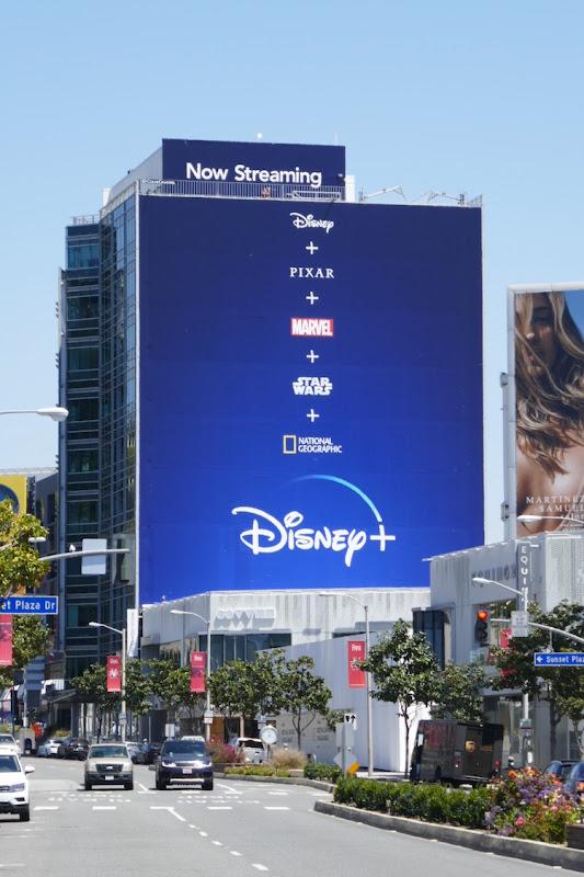 Giant Disney plus 2020 billboard
