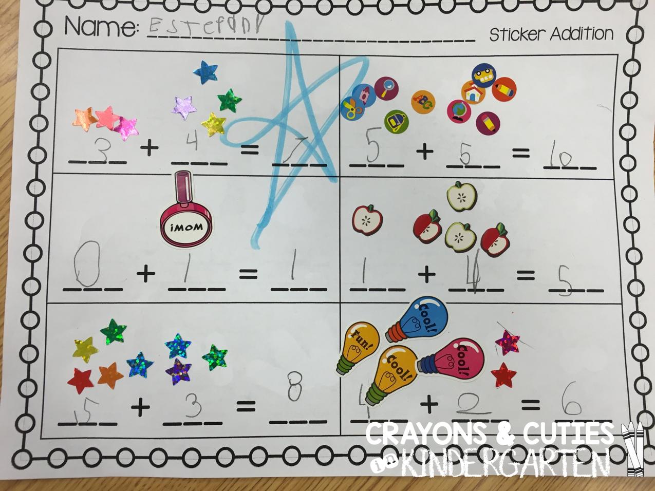 Crayons Amp Cuties In Kindergarten Sticker Addition
