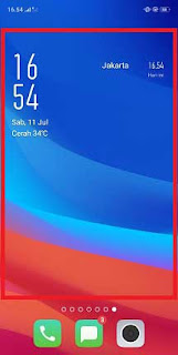 Cara Menambah Widget di Oppo A5S
