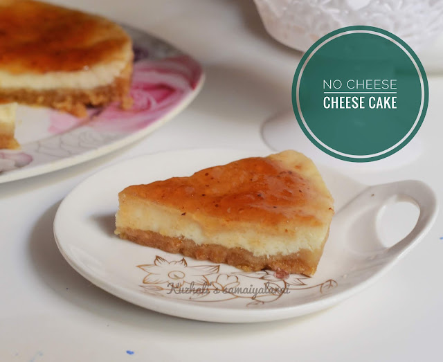 NO CHEESE CHEESE CAKE RECIPE, HOW TO MAKE NO CHEESE CHEESE CAKE, YOGURT CHEESE CAKE RECIPE