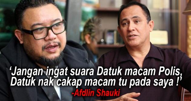 Afdlin Shauki Balas Kenyataan Yusof Haslam. PANAS!