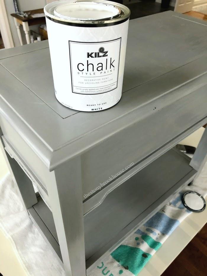 chalk paint end tables