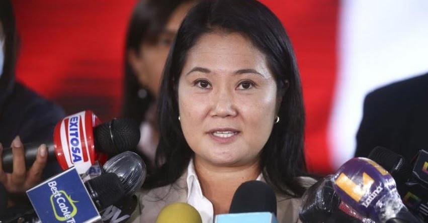 SE LAVA LAS MANOS: Keiko Fujimori deslinda con acciones del grupo vandálico conocido como «La Resistencia»
