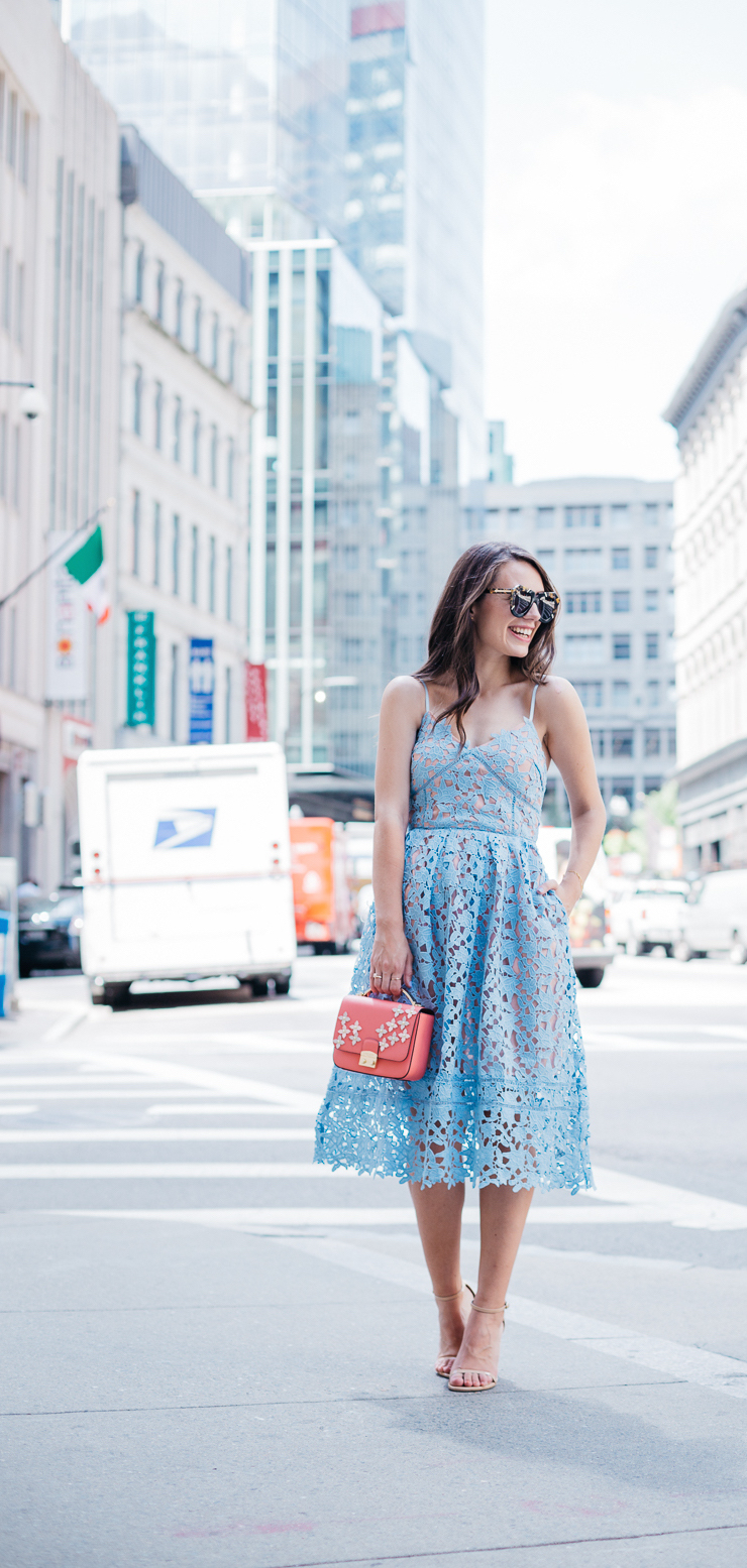 You'd never guess this pastel blue midi dress had pockets - or that it cost less than $50!