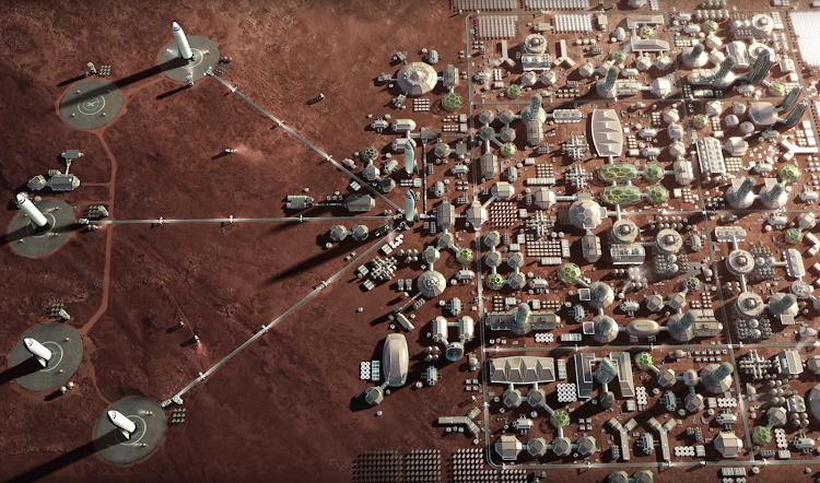Проект поселения на Марсе
