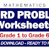 WORD PROBLEMS Worksheets for Grade 1 - 6 (Free Download)