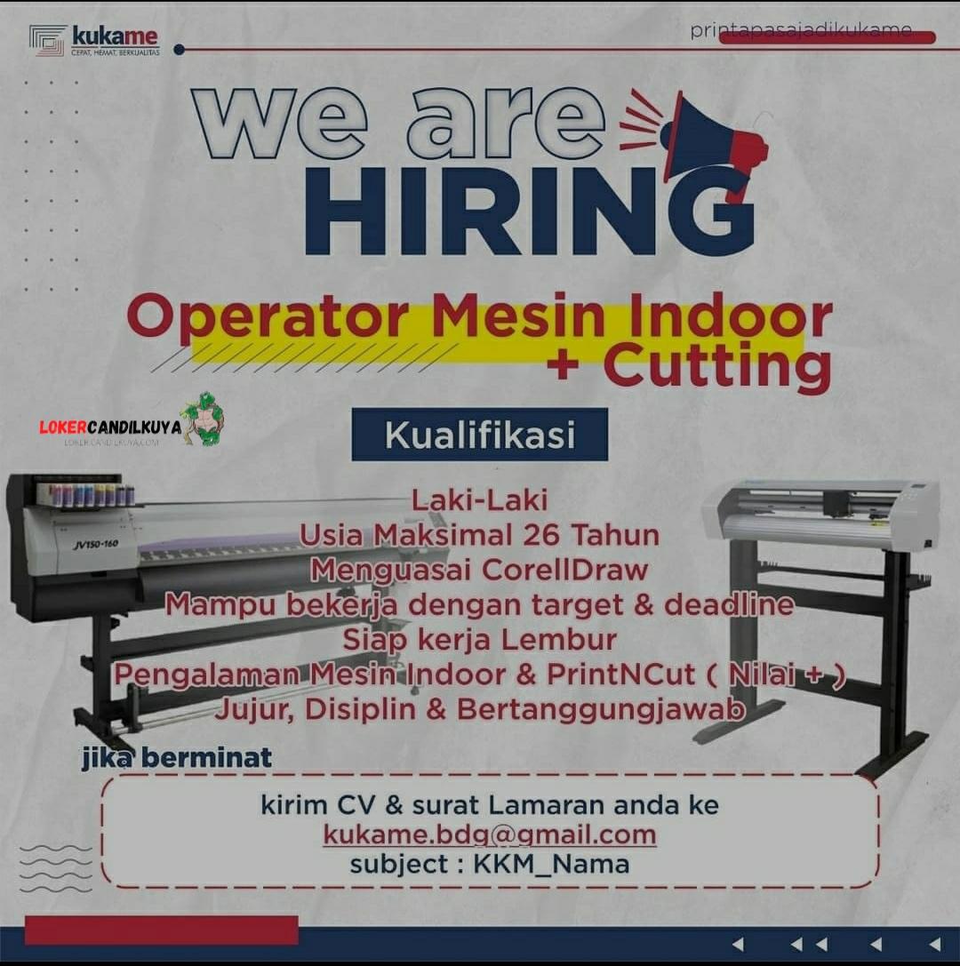 Lowongan Kerja Operator Mesin Indoor Cutting Bandung