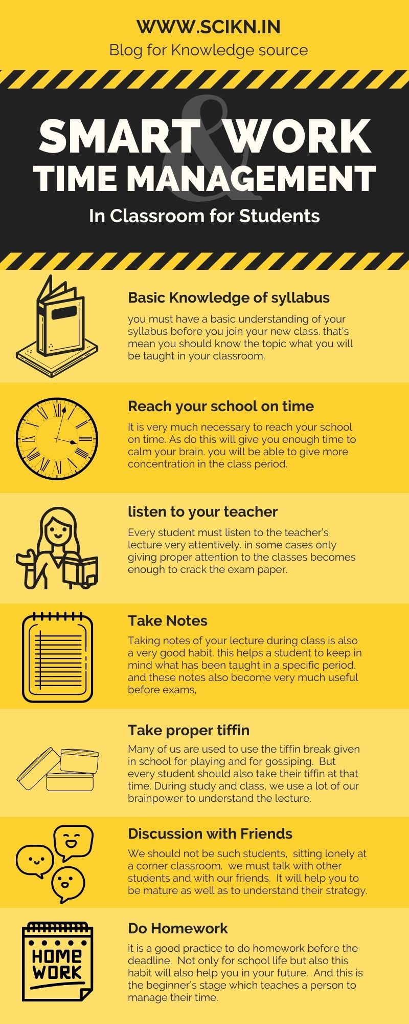 Infographics on Smart work and Time Management for Students