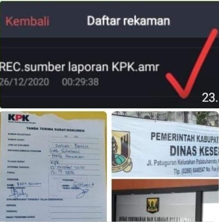 Jejak Digital Pelapor KPK di Kab.SMI, Diduga inden Proyek Asal Jadi ada Kerugian Uang Negara