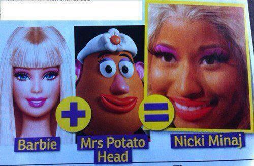 Funny Celebrity Picture Barbie Mrs Potato Head