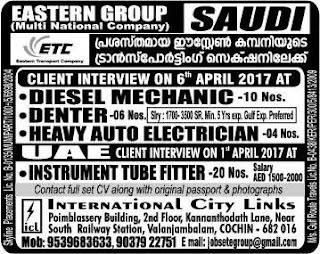 Eastern Transport Company Saudi Arabia jobs