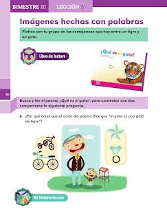 Apoyo Primaria Español 1er grado Biestre 3 lección 5 Imágenes hechas con palabras